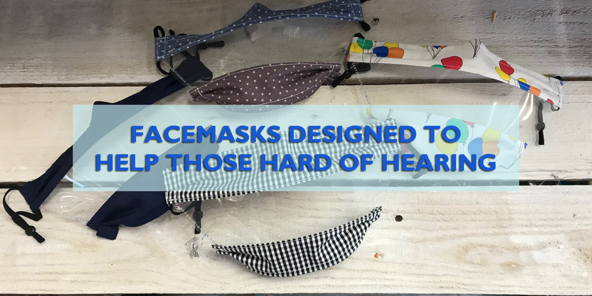 Face masks designed for the hard of hearing