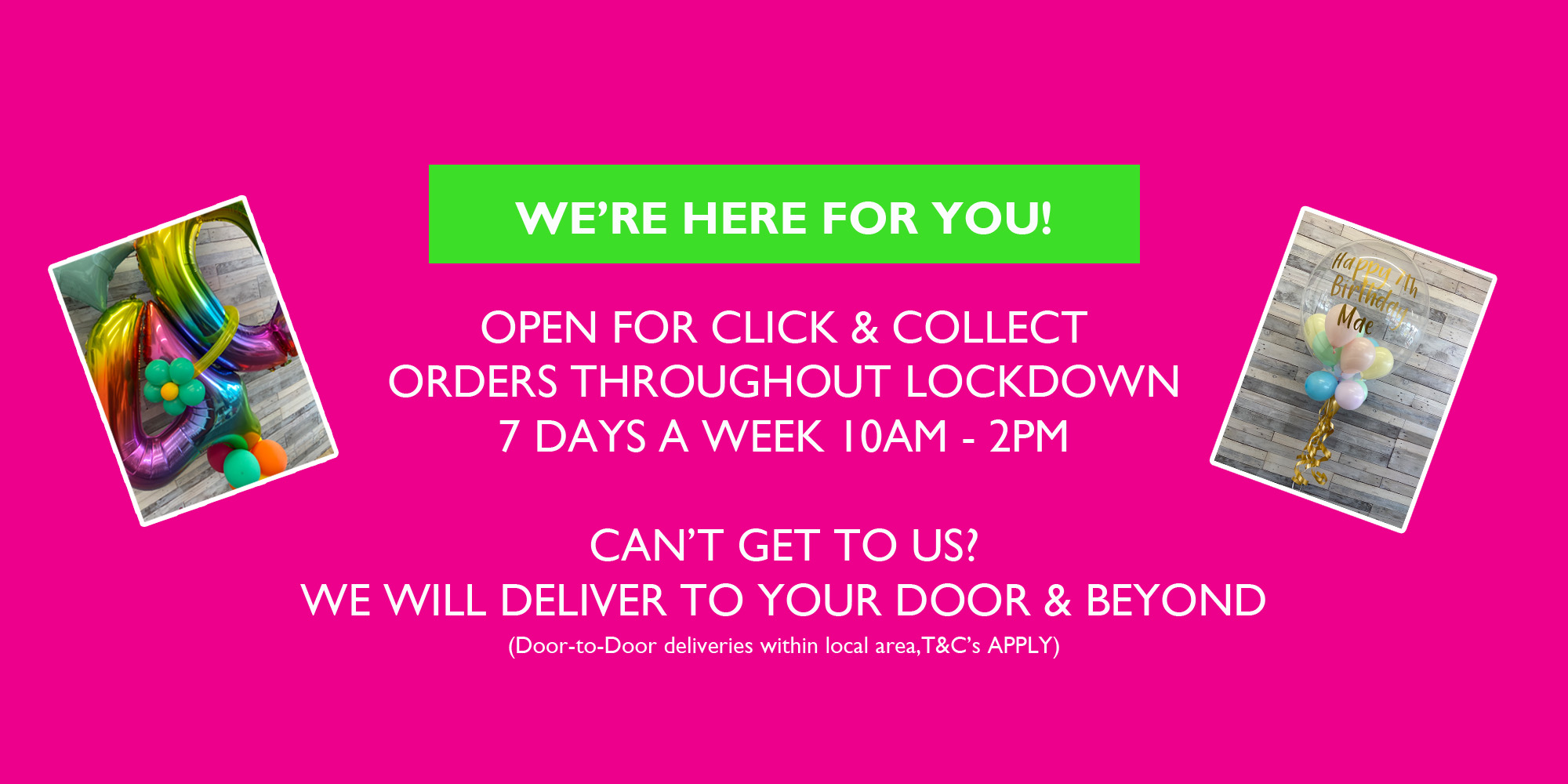 Click and collect orders through lockdown Safe non-contact deliveries
