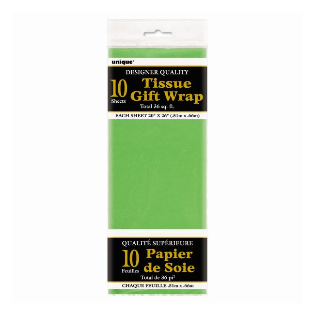 Sheet Tissue Paper Lime Green Pack of 10