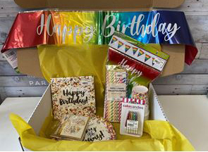 Rainbow themed Party in a Pack