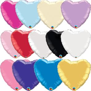 "18"" Foil Balloon - Metallic Heart (Click for full colour range)"