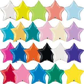 "18"" Foil Balloon - Metallic Star (Click for full colour range)"