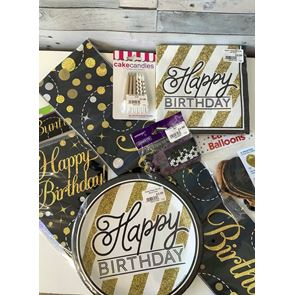 General Birthday Home Pack, Black Gold