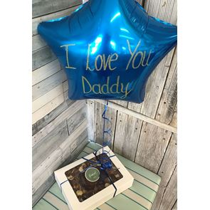 Spoil Dad Rotten Display - Foil Balloon and Brownie Cake