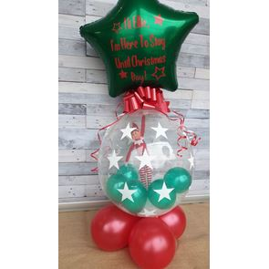 Naughty Elf in a Balloon