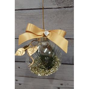 Gold Shimmer Bauble - 8cms