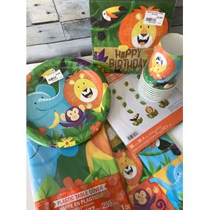 Jungle Birthday Party Theme Pack