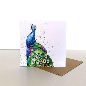 Greeting Card -  Peacock
