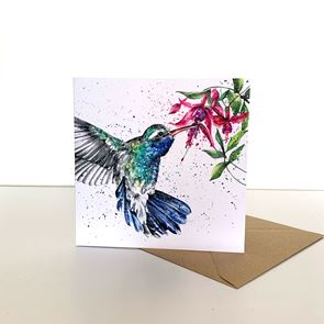 Greeting Card -  Hummingbird