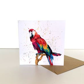 Greeting Card -  Parrot
