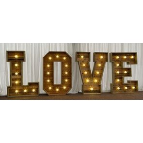 Light Up Letters/Numbers - approx 4 foot (1.2m) high (to hire)