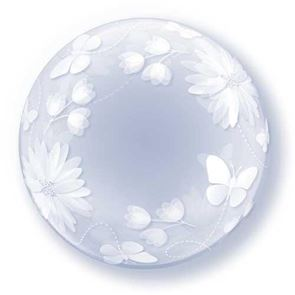 Butterflies & Flowers Balloon Bubble - 20 inch (Supplied uninflated)