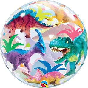 Colourful Dinosaurs Balloon Bubble - 22 inch