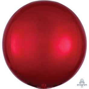 "15"" x 16"" Orbz Foil Balloon - Red"