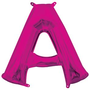Letter A Pink Air Filled Foil Balloon 16 inch / 40cms