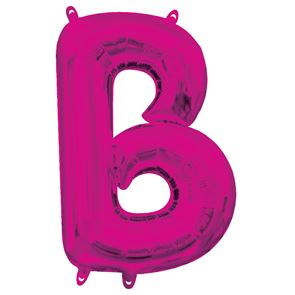 Letter B Pink Air Filled Foil Balloon 16 inch / 40cms