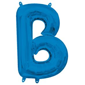 Letter B Blue Air Filled Foil Balloon 16 inch / 40cms