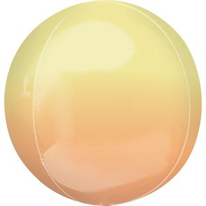 "15"" x 16"" Orbz Foil Balloon - Ombre Yellow Orange"