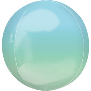 "15"" x 16"" Orbz Foil Balloon - Blue Green"
