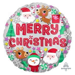 Merry Christmas Foil Balloon - 18 in