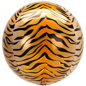 Tiger Print Orbz Foil Balloon - 15 in x 16 in