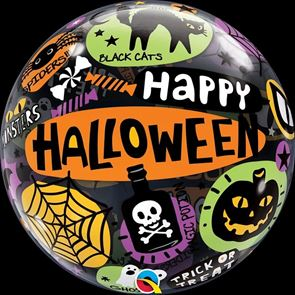 Balloon Bubble, 22 inch, Halloween Messages and Icons