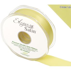 Double Faced Satin Ribbon, 25mm wide - Pale Yellow
