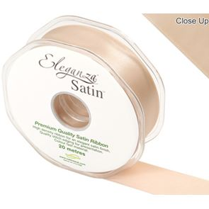 Double Faced Satin Ribbon, 25mm wide - Champagne Gold