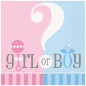 Napkin Gender Reveal Pk20