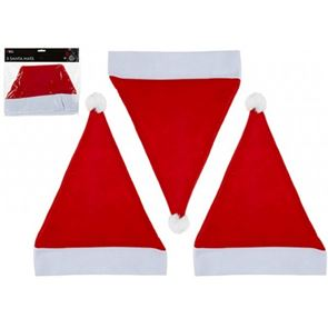 Santa Hat, Adult, Red and White Felt