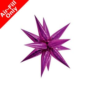 Pink Star 3D Foil Balloon - Air Fill - 27.5 inch x 27.5 inch