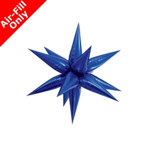 Blue Star 3D Foil Balloon - 27.5 inch x 27.5 inch