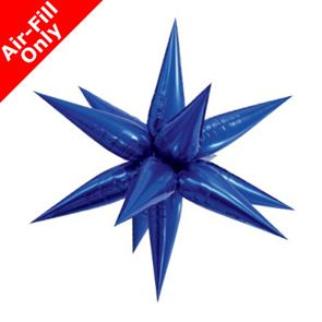 Blue Star 3D Foil Balloon - 40 inch x 40 inch