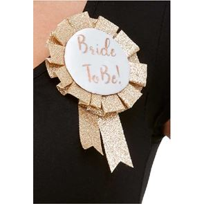 Bride To Be Rosette Rose Gold