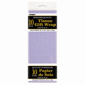 Sheet Tissue Paper Lavender Pack of 10