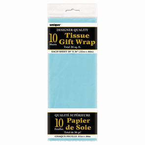 Sheet Tissue Paper Baby Blue Pack of 10