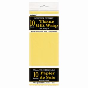 Sheet Tissue Paper Yellow Pack of 10