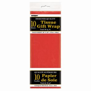 Sheet Tissue Paper Red Pack of 10