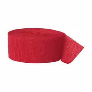 Crepe Paper Streamer - Ruby Red - 81 foot