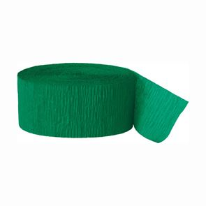 Streamer, Crepe Paper, Green, 81 foot