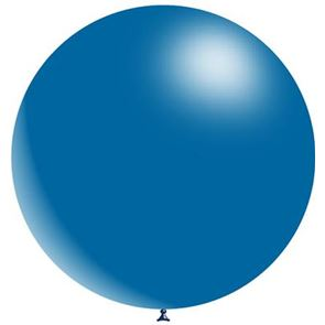 Fashion Solid Royal Blue Latex Balloon - 36 inch (Uninflated)
