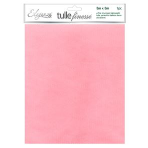 Fabric Tulle Finesse, 3m x 3m - Lt Pink