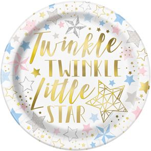 Twinkle Little Star  - Plates Pack of 8
