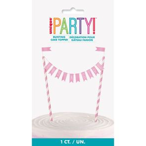 Cake Topper Its a Girl Bunting