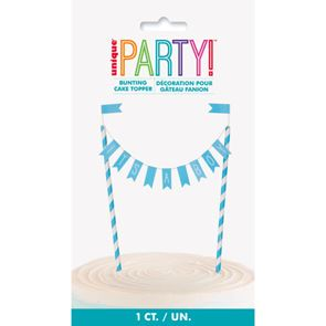Cake Topper Its a Boy Bunting