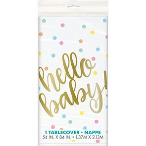 Hello Baby Tablecover Gold