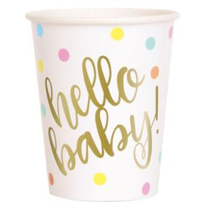 Hello Baby Cups Gold Pack of 8
