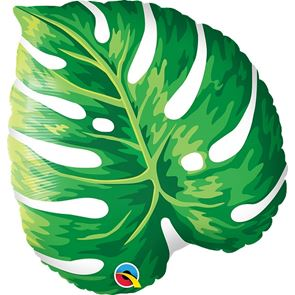 Tropical Philodendron Foil Balloon - 21 inch