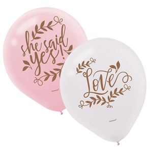 Love Leaves Latex Balloons - Pack of 6
