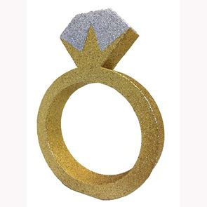 Glitter Table Decoration - Engagement Ring